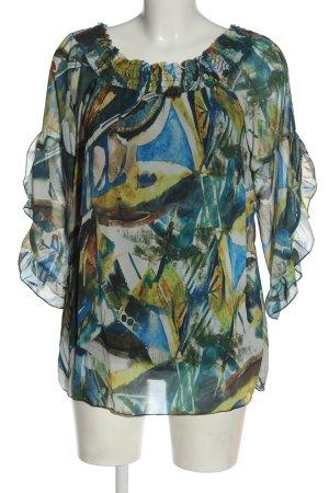Zauberstern Bluzka typu carmen Abstrakcyjny wzór W stylu casual