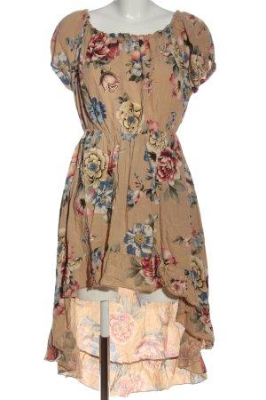 Zauberstern Robe bas asymétrique motif de fleur style décontracté