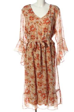 ZAY Blusenkleid wollweiß-rot Blumenmuster Casual-Look