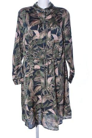 ZAY Clothing Langarmkleid Allover-Druck Casual-Look