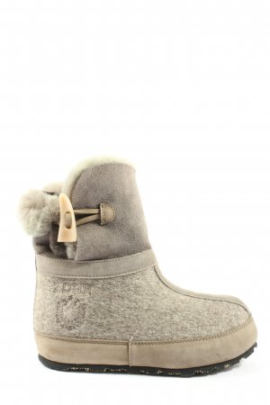 ZDAR Slouch Booties light grey-natural white casual look