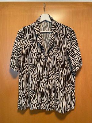 Zebra Bluse von Zara Grösse L