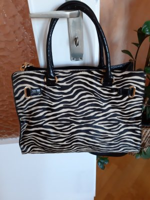 zebra Leder tasche