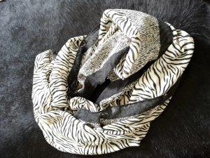 Mango Tubesjaal wit-zwart