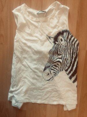 Zebra Tshirt von Mango mit hübschen Rückenausschnitt