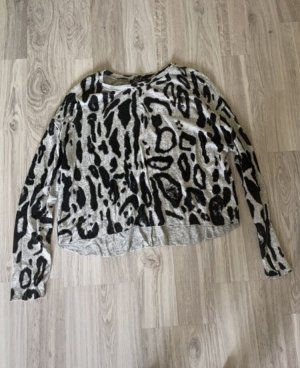 Amisu Sudadera de forro negro-gris claro