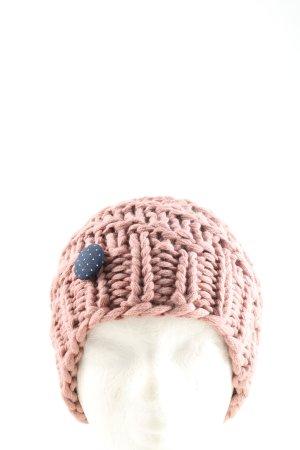 Zebratod by Ilona von Preuschen Gebreide Muts roze kabel steek