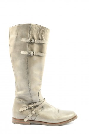 zecchino d'Oro Wide Calf Boots natural white casual look