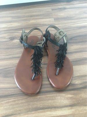 Cm Laufsteg Toe-Post sandals black-brown