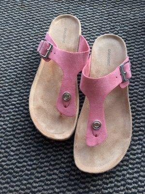 Graceland Sandalias con talón descubierto rosa Cuero