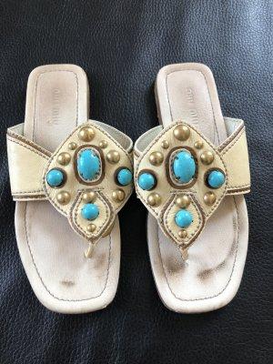 Miu Miu Toe-Post sandals multicolored