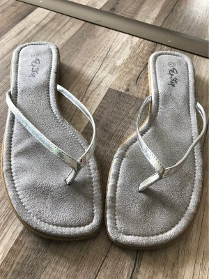 Pep Step Sandały japonki srebrny