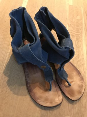 Joyca Sandalias de tacón con talón descubierto azul oscuro