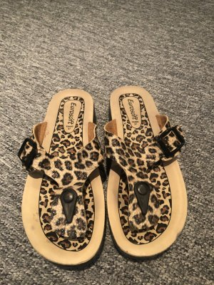 Toe-Post sandals bronze-colored