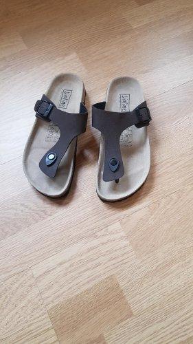 Sandalo toe-post marrone scuro