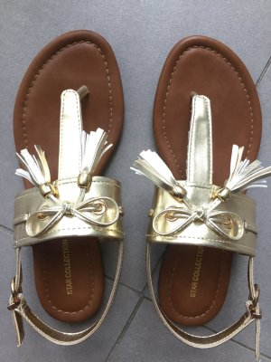 Star Collection Sandalo toe-post oro