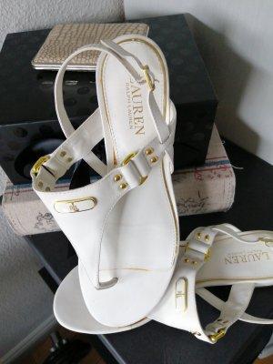 Zehentrenner Sandale Sandalette 41 Ralph Lauren