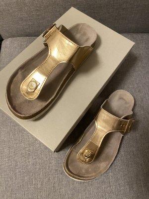 Only Sandalo toe-post color oro rosa