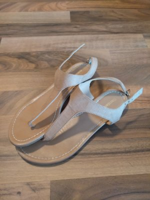 Deichmann High-Heeled Toe-Post Sandals multicolored