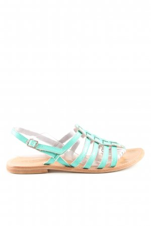 Sandalo toe-post turchese stile casual