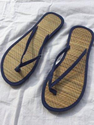 Nanu Nana Flip-Flop Sandals dark blue-sand brown