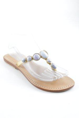 Sandalo toe-post multicolore stile da moda di strada