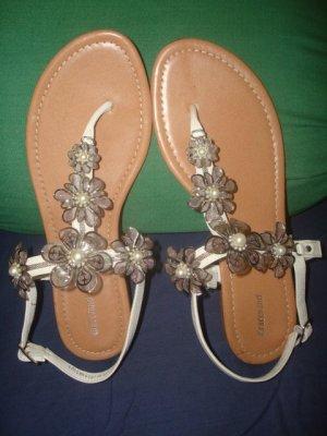 Graceland Entre-doigt blanc-chameau cuir