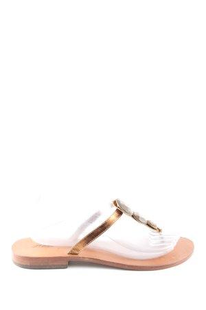 Sandalias con talón descubierto nude-color bronce look casual