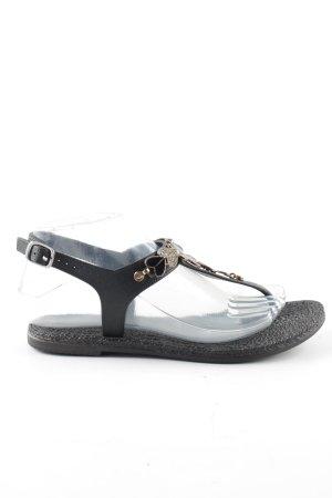 Sandalias con talón descubierto negro look casual