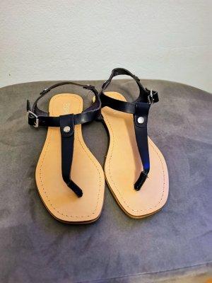 Esprit Sandalo toe-post blu scuro Pelle