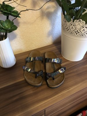 Birkenstock Toe-Post sandals petrol leather