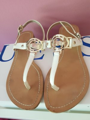 Guess Toe-Post sandals gold-colored-cream