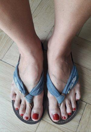 Tom Tailor Denim Sandalo toe-post multicolore Pelle