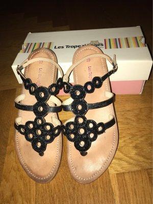 Les Tropéziennes Toe-Post sandals black