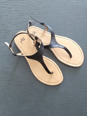 Anna Field High-Heeled Toe-Post Sandals black