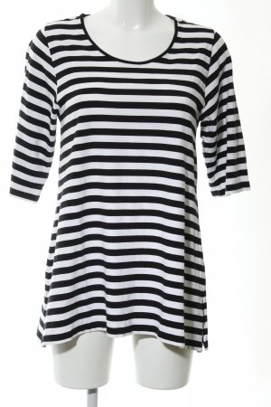 zeitlos by luana Longshirt schwarz-weiß Streifenmuster Casual-Look
