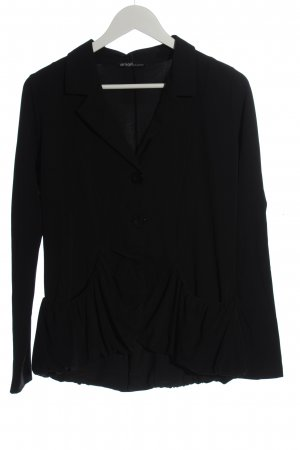 zeitlos by luana Blazer en maille tricotée noir style décontracté