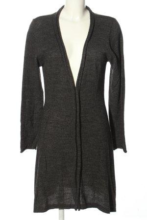 zeitlos by luana Cappotto a maglia grigio chiaro puntinato stile casual