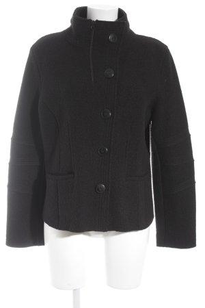 zeitlos by luana Veste en laine noir style décontracté