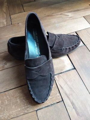 Zeitlose bequeme Mokassins handgefertigt Penny Loafers Slipper