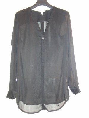 Zeitlose Bluse von ESPRIT - schwarz transparent - Gr. XS