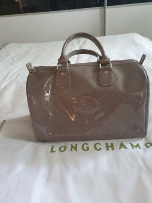 Longchamp Bowling Bag silver-colored polyacrylic
