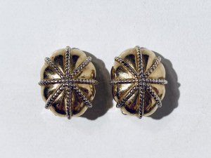 Burberry Orecchino a clip oro Metallo