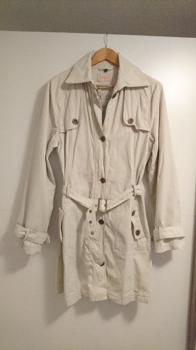 Street One Trench Coat oatmeal-natural white cotton