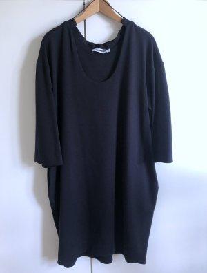 Zeitloses, nachtblaues Tunika-Kleid von JIL SANDER