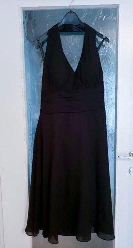 Zeitloses Neckholder Cocktail Midi-Kleid in A-linie