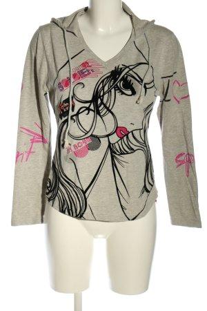 Zelia Shirt met capuchon prints met een thema casual uitstraling