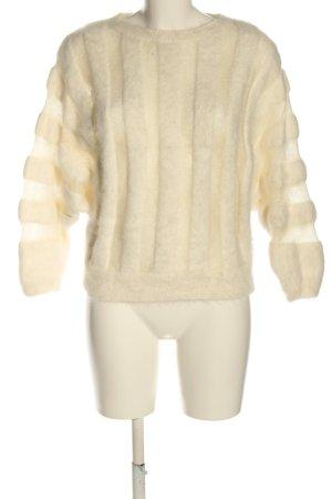 Zelle Jersey de lana crema look casual