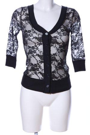 Zenana Outfitters Spitzenbluse schwarz Elegant
