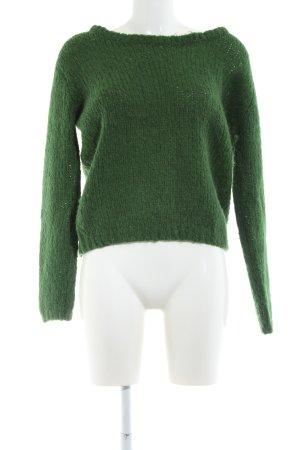 Zenggi Grobstrickpullover grün Casual-Look